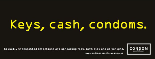 Keys, cash, condoms
