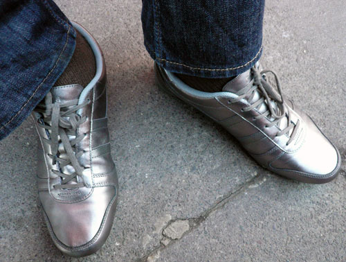 new Gola Pewter/Silver sneakers