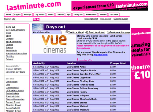lastminute.com offer