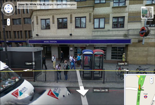 Google Street View: Angel station