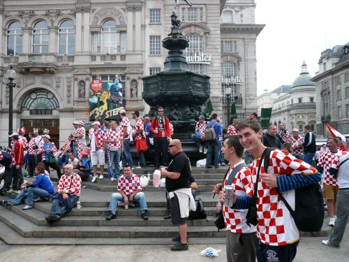Croatian Supporters @ Piccadilly Circus