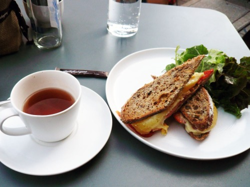 Chedder and Tomato Sandwich @Daylesford Organic Cafe