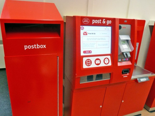 Royal Mail Post & Go machine