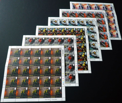 """The Fire & Rescue Service"" Royal Mail Stamps"
