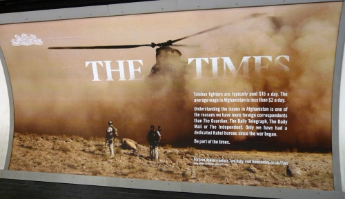 The Times Underground Poster