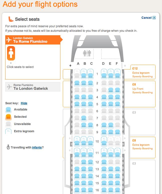 easyjet a320 seating plan - photo #27