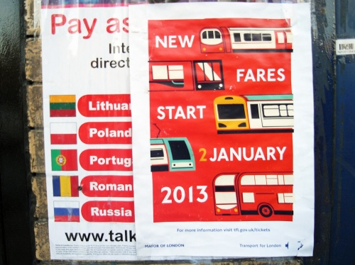 Transport for London Poster: New Fares 2013